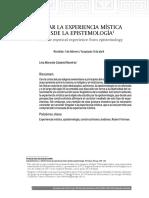 PensarLaExperienciaMisticaDesdeLaEpistemologia