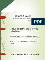 Catalin Zamfir-Dimitrie Gusti, contributie si receptarea sa de catre Istorie