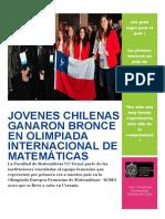 Jóvenes Chilenas Ganaron Bronce en Olimpiada Internacional de Matemáticas