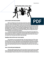 what you should know before joining a band