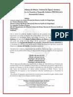 Banda Sinfónica Alientos de México. Solicitud de Espacios Alcázar Castillo de Chapultepec