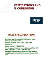 Rail Specification s & Corrosion