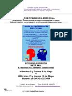 Teatro de La Sensacion Taller de Inteligencia Emocional-mayo 2019