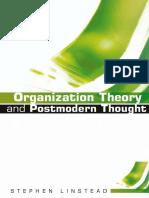 ORGANIZATION THEORY Organizational theory and postmodern thought.pdf