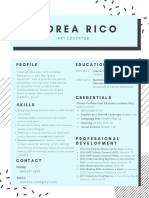 andrea rico art resume only
