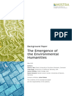 The Emergence of the Environmental Humanities