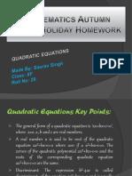 Mathematics Autumn Break Holiday Homework