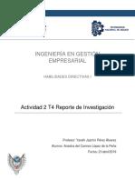 Reporte de Investigación Habilidades Directivas
