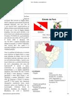 Estado do Pará - breve história.