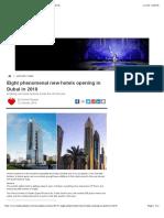 Eight Phenomenal New Hotels Opening in Dubai in 2018
