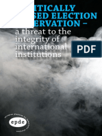 Politically Biased Election Observation - a threat to the integrity of international institutions.pdf