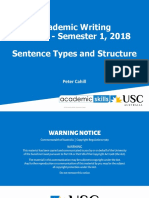 Academic Writing - Week 2 - Sentence Types and Structure