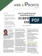 Subprime Oil Bail ouit imminent