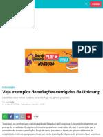 Veja exemplos de redações corrigidas da Unicamp | Guia do Estudante