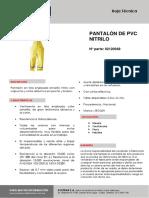 Pantalón de Jebe Nitrilo 2120048