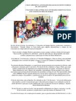 Emei Cecy Ribeiro Dias Apresenta Atividades Realizadas Neste Começo de Ano Letivo