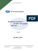 IAFMD21MigrationtoISO450012018Pub.en.Es