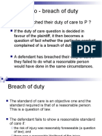 Breach of Duty, Causation and Remoteness