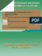 Analisis y Diseño de Muros de Contencion y Estribos
