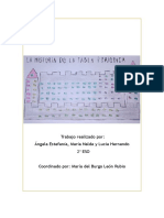 La historia de la tabla periódica - 2º ESO