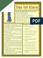 Das Ist Klara Arbeitsblatter Leseverstandnis 23803