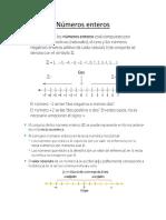 Guía 1 Matemáticas Números Enteros