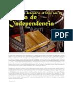 El Grueso Libro Conteniendo El Acta de Independencia de Venezuela