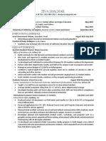 ziva shachar resume for eportfolio