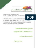 EIA Agua Potable Puerto Quito