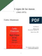 Carlos Altamirano Bajo el signo de las masas