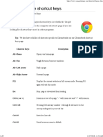 Google Chrome Shortcut Keys