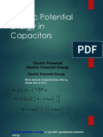 Electric Potential Energy in Capacitors