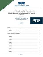 Real Decreto 500/1990, de 20 de abril por el que se desarrolla el capítulo primero del título sexto de la Ley 39/1988, de 28 de diciembre, reguladora de las Haciendas Locales, en materia de presupuestos.