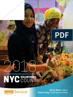 NYC Service Volunteers Count 2018