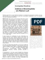 Combinatória e Enciclopédia em Rámon Lull