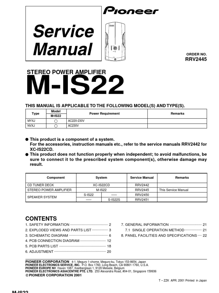 Pioneer 1005 Sm | Alternating Current | Printed Circuit Board