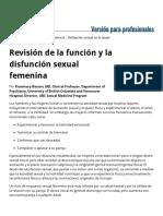 Revisión de La Función y La Disfunción Sexual Femenina - Ginecología y Obstetricia - Manual MSD Versión Para Profesionales