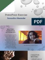 alexanders powerpoint exercise 1