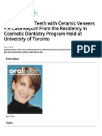 Beautify Your Teeth with Ceramic Veneers - A Case Report From the Residency in Cosmetic Dentistry Program Held at University of Toronto - Oral Health Group.pdf