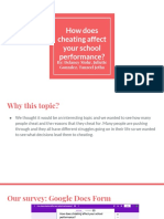 how does cheating affect your school performance ppt