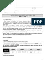 COMUNICADO 285 - 18 - Política Comercial -  Novembro 2018