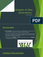 Techniques of Idea Generations