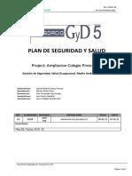 Plan de Seguridad y Salud Ocupacional 2015