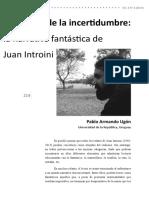2.DOSSIER - 4. Pablo Armando Ugon - El Espacio de La Incertidumbre_La Narrativa Fantástica de Juan Introini