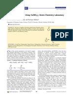 Nitration of Phenols Using Cu(NO3)2 Green Chemistry Laboratory
