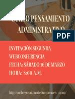 Tarjeta Invitación Segunda Webconferencia