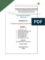 TRAZO DE GALERÍA CON ESTACIÓN TOTAL -UNSCH MINAS