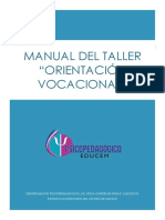 Manual Orientación Vocacional