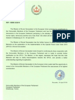 Brunei letter to EU