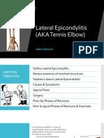lateral epicondylitis presentation
